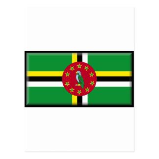 Bandeira de Dominica Cartão Postal