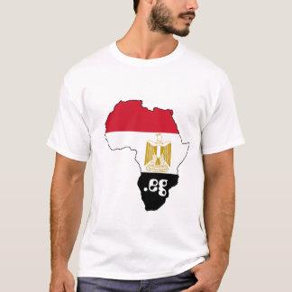 Bandeira de Egipto no mapa da camisa do Internet T
