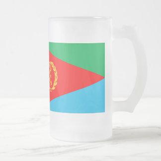 Bandeira de Eritrea Caneca De Cerveja Vidro Jateado