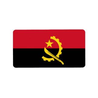 Bandeira de etiquetas de Angola Etiqueta De Endereço