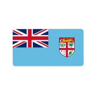 Bandeira de etiquetas de Fiji Etiqueta De Endereço