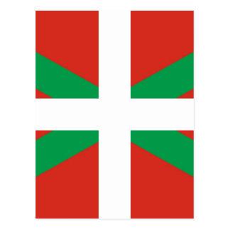 Bandeira de Euskadi - país Basque - Ikurri Cartão Postal
