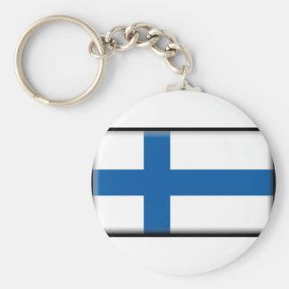 Bandeira de Finlandia Chaveiros