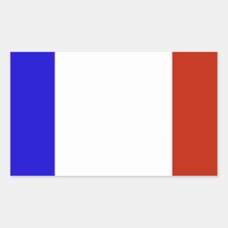 Bandeira de France Adesivo Retangular