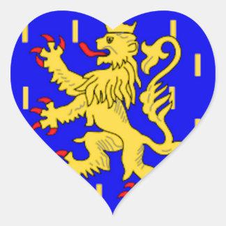 Bandeira de Franche-Comté (France) Adesivo Coração