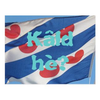 Bandeira de Fryslan & hè de Kâld do texto? Cartão