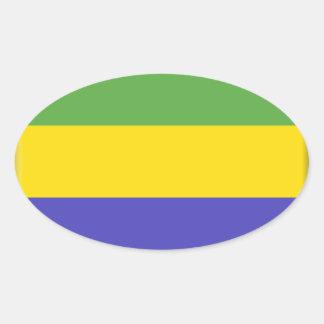 Bandeira de Gabon Adesivos Em Formato Oval