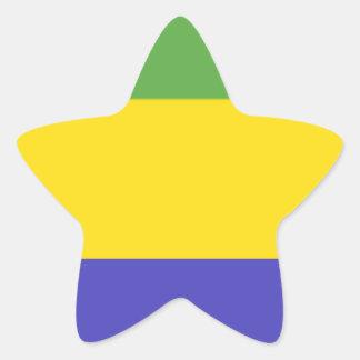 Bandeira de Gabon Adesivos Estrelas