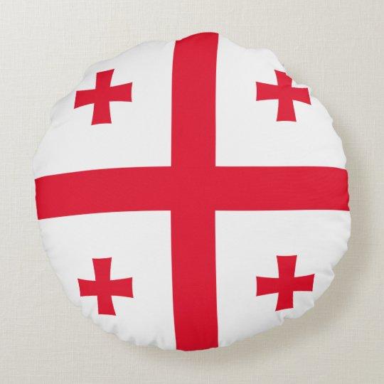 Bandeira de Geórgia Almofada Redonda