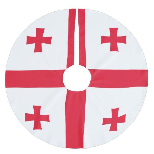 Bandeira de Geórgia Cobertura Para Árvore De Natal De Poliéster