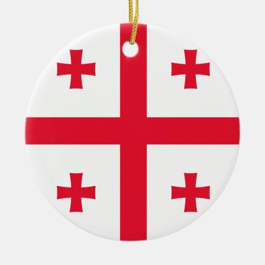 Bandeira de Geórgia Ornamento De Cerâmica Redondo