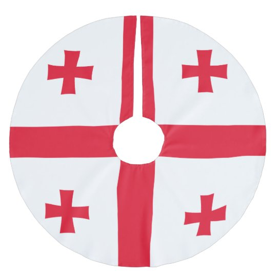 Bandeira de Geórgia Saia Para Árvore De Natal De Poliéster