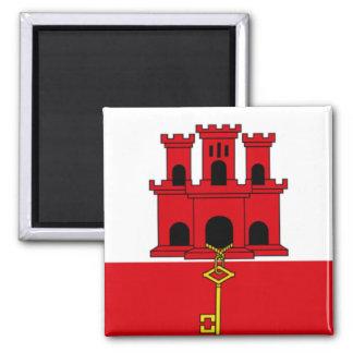 Bandeira de Gibraltar Ímã Quadrado