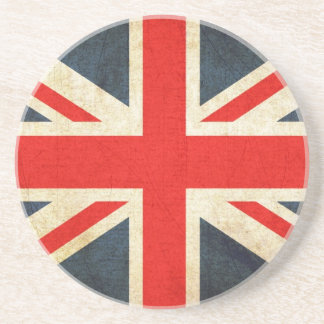Bandeira de Grâ Bretanha no Grunge Porta Copos De Arenito