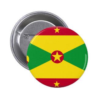 Bandeira de Grenada Bóton Redondo 5.08cm