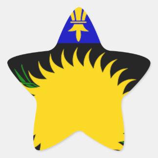 Bandeira de Guadalupe (France) Adesivo Em Forma De Estrela