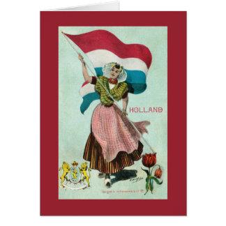 Bandeira de Holland - (reino dos Países Baixos) Cartão Comemorativo