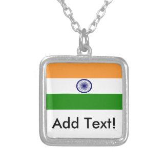 Bandeira de India Colar Banhado A Prata