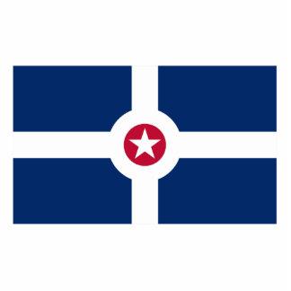 Bandeira de Indianapolis, os Estados Unidos Escultura De Foto