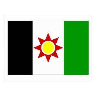 Bandeira de Iraque (1959-1963) Cartão Postal