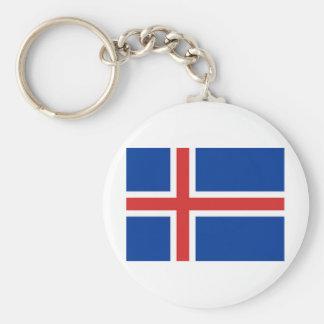 Bandeira de Islândia Chaveiros