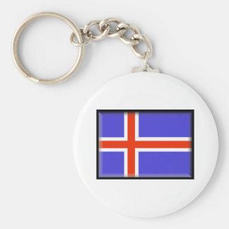 Bandeira de Islândia Chaveiro