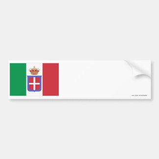 Bandeira de Italia (1861-1946) Adesivo Para Carro