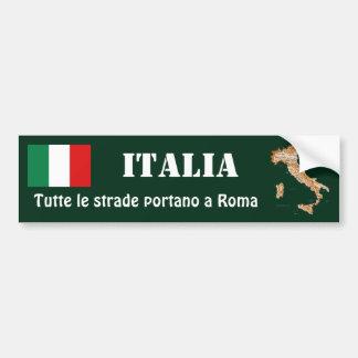 Bandeira de Italia + Autocolante no vidro traseiro Adesivo Para Carro