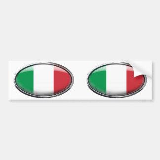 Bandeira de Italia no Oval de vidro Adesivo Para Carro