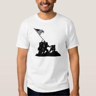 Bandeira de Iwo Jima que aumenta a silhueta Camiseta
