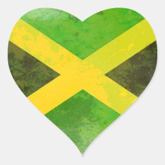 bandeira de jamaica - raizes da reggae adesivo coração