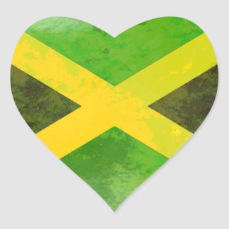 bandeira de jamaica - raizes da reggae adesivos em forma de corações