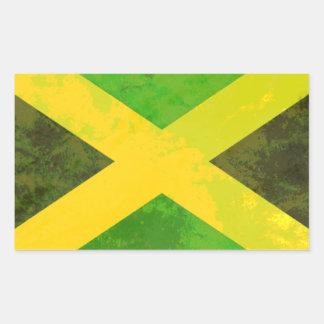bandeira de jamaica - raizes da reggae adesivo retângular