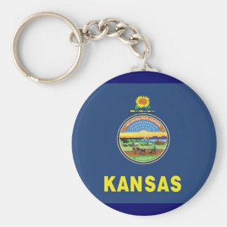 Bandeira de Kansas Chaveiro