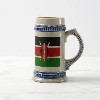 Bandeira de Kenya Caneca De Cerveja