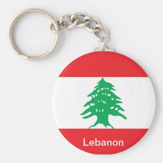 Bandeira de Líbano Chaveiro