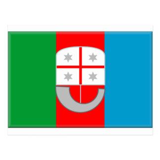 Bandeira de Liguria (Italia) Cartao Postal