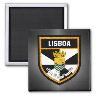 Bandeira de Lisboa Ímã Quadrado