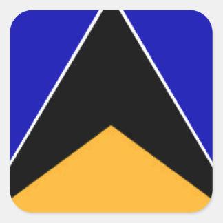 Bandeira de Lucia de santo Adesivo Em Forma Quadrada