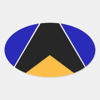 Bandeira de Lucia de santo Adesivos Oval