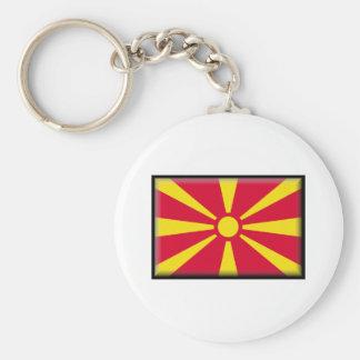 Bandeira de Macedónia Chaveiro