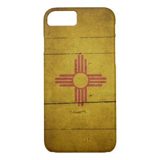 Bandeira de madeira áspera de New mexico Capa iPhone 8/7