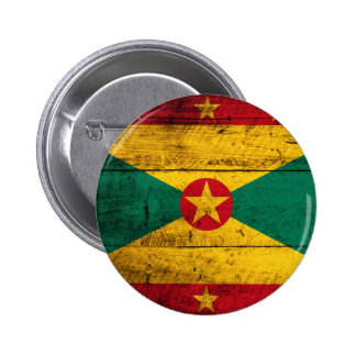 Bandeira de madeira velha de Grenada Bóton Redondo 5.08cm