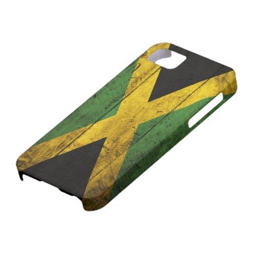 Bandeira de madeira velha de Jamaica Capas iPhone 5 Case-Mate