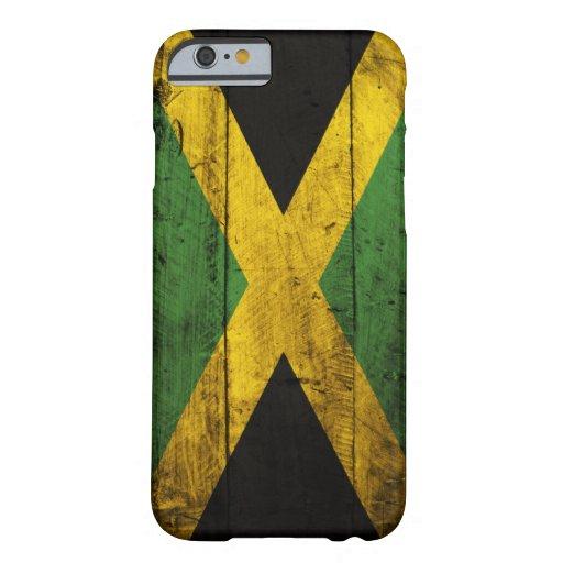 Bandeira de madeira velha de Jamaica Capa Barely There Para iPhone 6