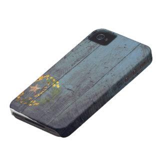 Bandeira de madeira velha de Nevada Capa iPhone 4 Case-Mate