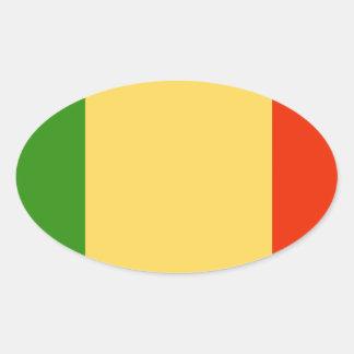Bandeira de Mali Adesivo Oval