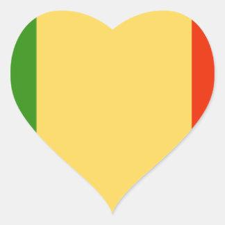 Bandeira de Mali Adesivo De Coração