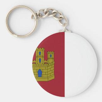 Bandeira de Mancha do La de Castilla (espanha) Chaveiro