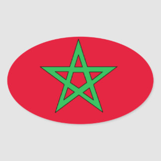Bandeira de Marrocos Adesivos Em Formato Ovais